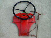 Ford Tractor 8n Hood Instrument Dash Panel For 1949 Model And Steering Wheel.