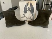 Hush Puppies Vintage Mens Leather Zip Up Shoes Boots 10m Nos New