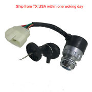 5 Pin 5 Wire Ignition Key Switch With Cap For 50cc-250cc Atv Go Kart Moped Dune