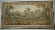 1878-1978 Jp Paris Large Wall Tapestry French Country Pastoral Water Mill Taggd