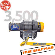 Superwinch 1135220 Atv Terra Series 3500 Lbs Electric Winch With Steel Cable