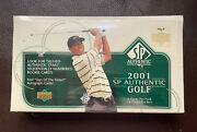 2001 Upper Deck Sp Authentic Golf Box Unopened Factory Sealed Tiger Woods M125