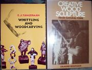 2 Hdbk Woodcarving Books Whittling And Woodcarving And Creative Wood Sculpture