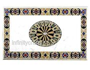 36 X 60 Inch Marble Dining Table Top Unique Design Inlaid Hallway Table For Home