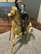 Vintage Marx Walt Disney Official Zorro And Roy Rogers Trigger Horse Figures