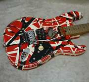 In Stock Evh Striped Series Frankie Relic'd Electric Guitar R/b/w