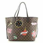 Louis Vuitton Neverfull Nm Tote Limited Edition Patches Damier Mm