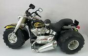 Awesome Vintage New Bright Harley Davidson Trike Battery Operated Toy - Rare