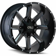 4 - 20x12 Black Wheel Cali Offroad Busted 8x6.5 8x170 -44