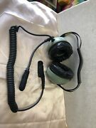 David Clark Behind The Head Headset H6240-51 For Parts Untested
