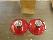Nos Oem Ford 1963 Galaxie 500 Backup Light Lamp Tail Lights Lenses Lamps