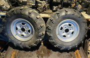 02 03 04 05 06 07 08 Yamaha Grizzly 660 Front Wheels Rims W Tires