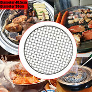 Barbecue Round Grill Net Grill Basket Bbq Net Steak Meat Fish Vegetable Holder