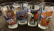New Universal Studios Retro Glass Set Of 4 - Jaws, Et, Kong, Back To The Future