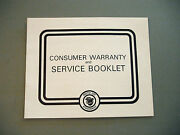 1979 Vintage Arctic Cat Snowmobile Warranty And Service Booklet