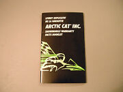 1997 Vintage Arctic Cat Snowmobile Warranty Booklet English/french