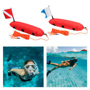 Torpedo Buoy Float For Scuba Diving Spearfishing - Dive Flag And Rope