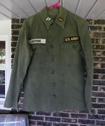 Us Army 1950and039s - Early Vietnam Captains Hbt Fatigue Shirt