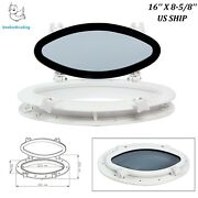 Great Oval Opening Portlight Porthole 16and039and039 X 8-5/8and039and039 Replacement Window
