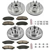 K5589 Powerstop Brake Disc And Pad Kits 4-wheel Set Front And Rear New For Ford