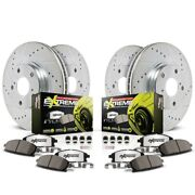 K6654-26 Powerstop 4-wheel Set Brake Disc And Pad Kits Front And Rear New For 330