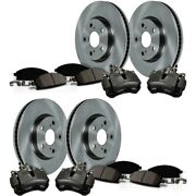 Kcoe4416 Powerstop 4-wheel Set Brake Disc And Caliper Kits Front And Rear For Ford
