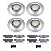 Crk7820 Powerstop 4-wheel Set Brake Disc And Pad Kits Front And Rear New For Truck