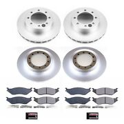 Crk4416 Powerstop 4-wheel Set Brake Disc And Pad Kits Front And Rear New For Ford