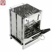 Portable Stainless Steel Camping Wood Alcohol Burning Stove Outdoor Picnic Bbq