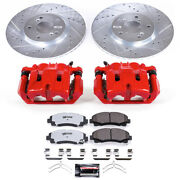 Power Stop For 12-14 Honda Ridgeline Z36 Truck And Tow Kit W/ Calipers - Front -