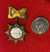 1898 Cuba Must Be Free Spanish American War Medal Vintage The Maine