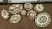 64pc 18th Century Wedgewood Mistletoe Serving Pieces With Some Plates, Cups, Etc