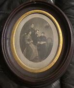 Abraham Lincoln Family Wife Sons Antique Photo Period Picture Frame 1860-1870s