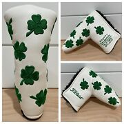 Scotty Cameron Headcover 2007 St. Patricks Day Four Leaf Clover Putter Cover New