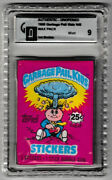 Garbage Pail Kids Series 1 Factory Sealed Pack - Gai 9 Graded And Authentic Gpk
