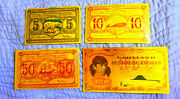 ●● Collection 4 Gold Polymer Banknotes Greenland 5 To 100 Kroner ●● I