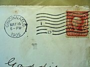 2-cent Red George Washington U. S. Postage Stamp - Issued 1905, With Papers