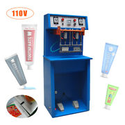 Pneumatic Tube Sealing Machine For Toothpaste Cream Cosmetics Print Date 110v