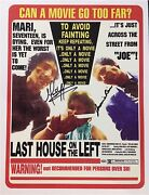 Last House On The Left / Signed By 2 Main Actors / 11x17 Mini Poster 1