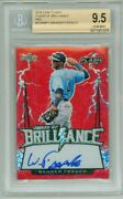 Wander Franco 2018 Leaf Flash Red Auto Rc And039d 3/5 Bgs 9.5 Gem Mint Rookie Card