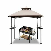 Warmally 8'x5' Grill Gazebo Bbq Patio Shelter Canopy For Outdoor Barbecue Tent