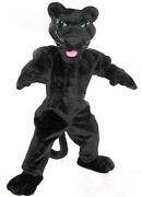 Black Leopard Doll Mascot Costume Adult Cosplay Fancy Dress Carnival Outfits