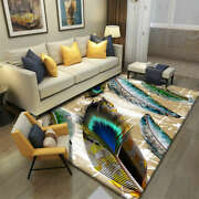 Nordic Style Bird Feathers Carpet Soft Flannel Area Rugs Flannel 3d Big Carpets