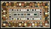 36 X 60 Inch Marble Dining Table Top Mosaic Art Hallway Table For Home Furniture