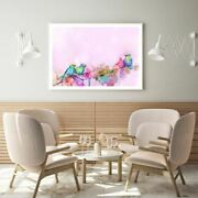 Birds On Flower Tree Painting Print Premium Poster High Quality Choose Sizes