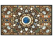 36 X 60 Inches Marble Dining Table Top Marquetry Art Meeting Table For Office