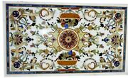 30 X 48 Inch Marble Coffee Table Top Peitra Dura Art Center Table For Home Decor