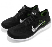 Nike Womenand039s Free Rn Flyknit 2018 Running Shoes Black White 942839-001 New