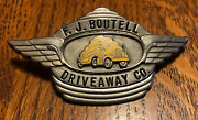 1950s Fj Boutell Driveway Co. Drivers Hat Pin Badge Tractor Trailer Car Carrier