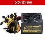 2000w Psu Power Supply For Computer 8 Video Card Mining Bitcoin Miner Eth Etc